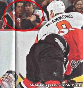 Émotions dans les gradins au hockey